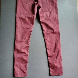 Divided Pants - 💍Divided Maroon Skinny Pants